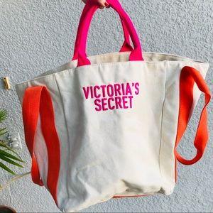 VICTORIA SECRET canvas square tote bag shopper
